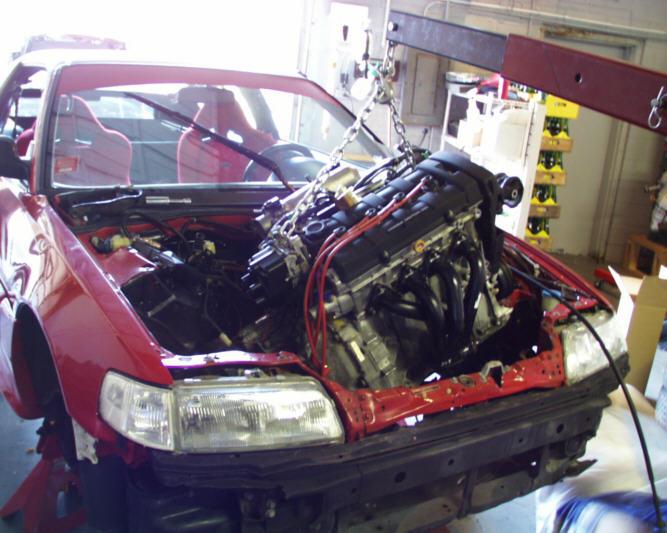 Street Sports Project CarsThe Honda CRX BA - Acura integra engine swap